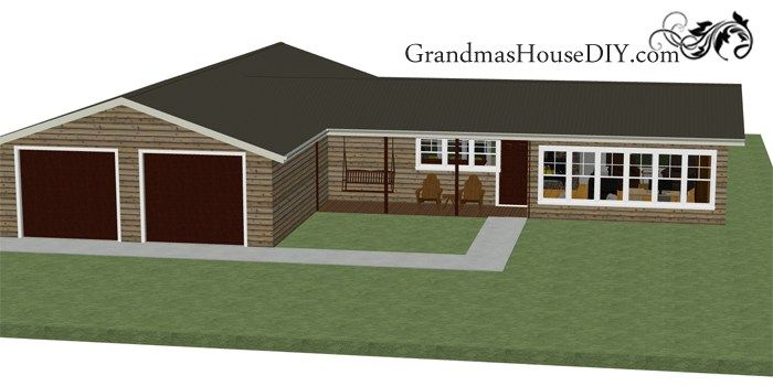 Free House Plan With A Great Back Deck And A Deluxe