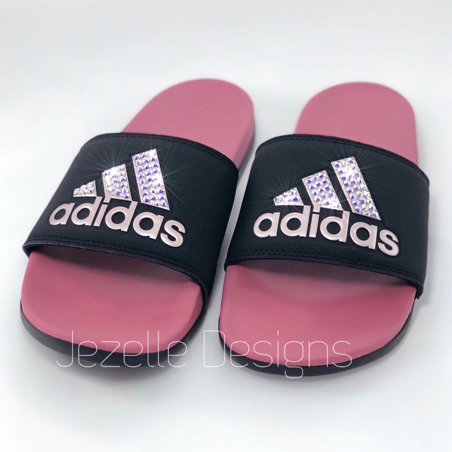 6eb5f8937b08 Life is better with a little sparkle! 💖 ~Jezelle Designs~ Adidas Slides