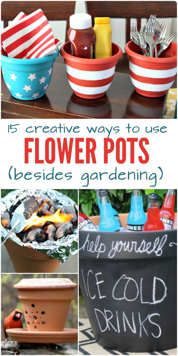 15 Creative Ways To Use Flower Pots Besides Gardening With