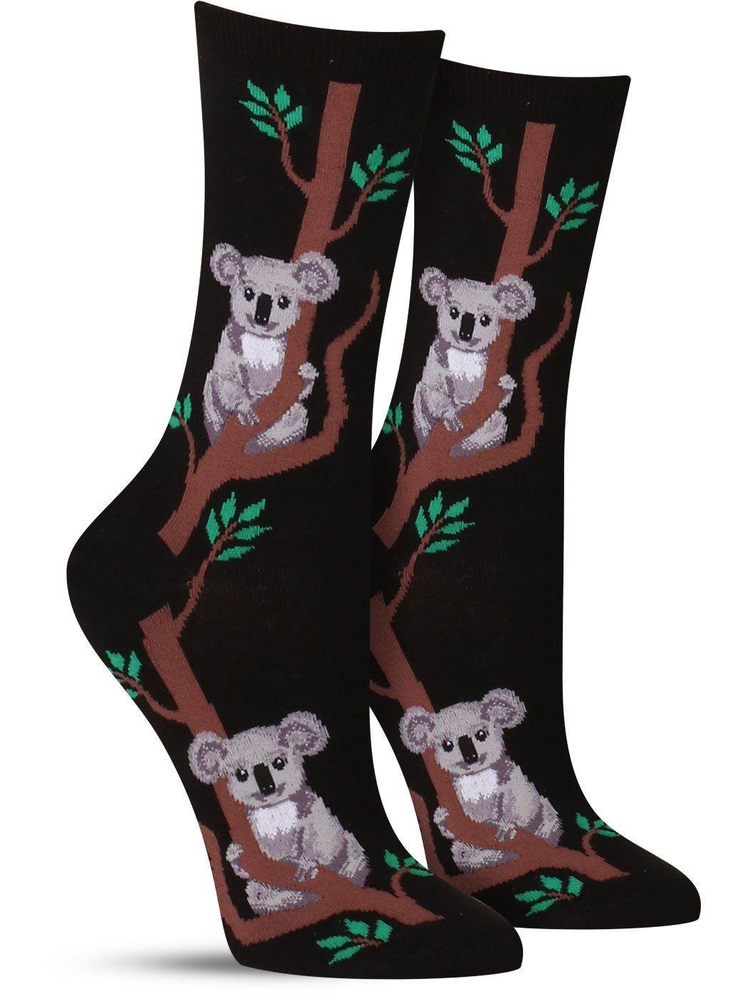 24309a966 Climbing Koala Socks | Womens Dog Socks, Crew Socks, Novelty Socks, Sock  Animals