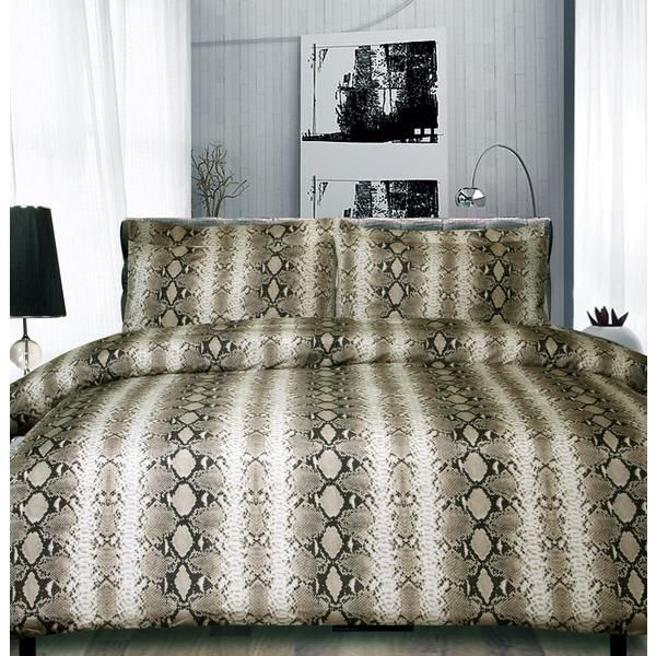 Dealsdirect Chocolate Snake Skin King Bed Quilt Cover Set Bed Quilt Cover Quilt Cover Sets Quilt Cover