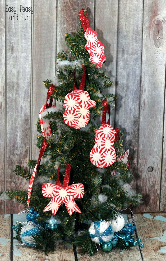Peppermint Candy Ornaments - DIY Christmas Ornaments - Peppermint Candy Ornaments - DIY Christmas Ornaments Easy Peasy