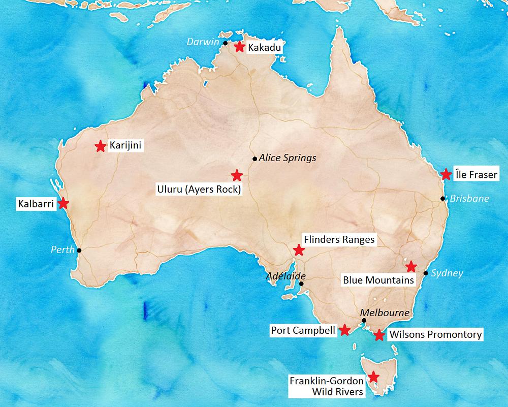 Les Parcs Nationaux en Australie