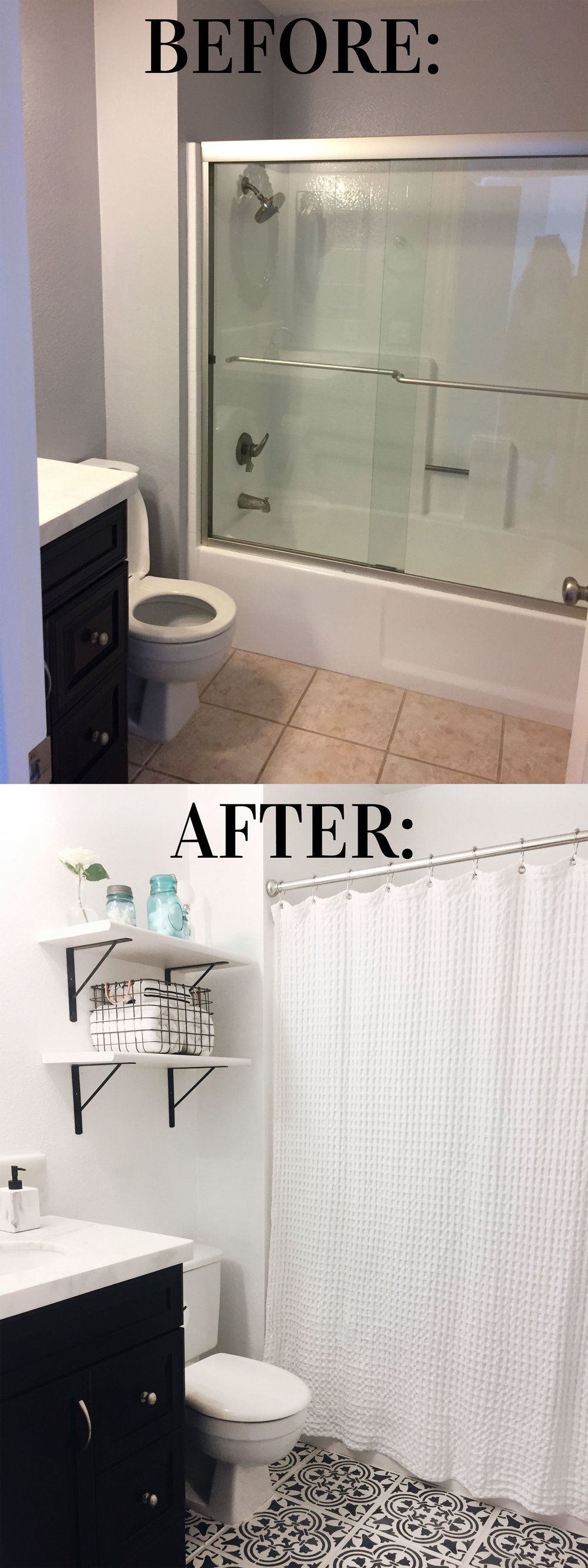 DIY FOR LESS: MOROCCAN INSPIRED PAINTED TILE | Tile flooring ...