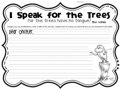 Week In Review Persuasive Writing Kindergarten Writing The Lorax