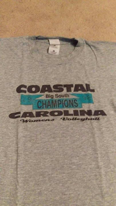 Jennifer Lyles Sent Us This Shirt From 1998 When The Volleyball Team Won The Big South Championship And Advanced To The N Ncaa Tournament Volleyball Team Lyles