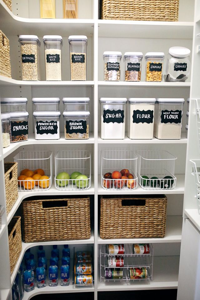 How I Organized My Pantry #pantryorganizationideas