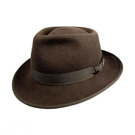 5b5375895300e Officially Licensed Kids  Crushable Wool Felt Fedora Hat