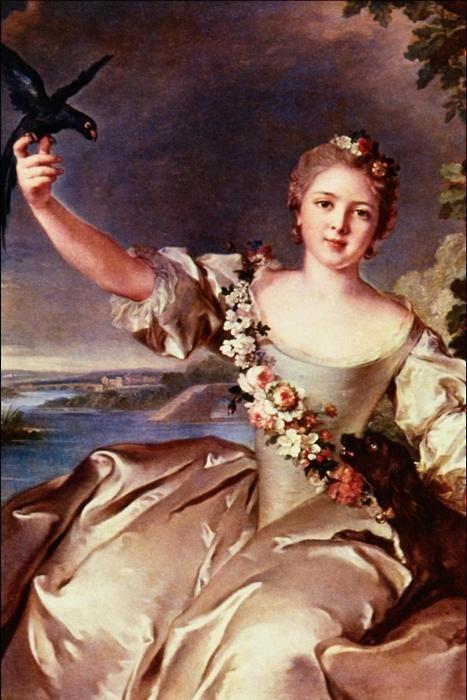 Portrait of Mathilde de Canisy, Marquise d'Antin    Jean-Marc Nattier. 1738