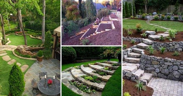 Small Backyard Landscaping Ideas on A Budget | Sloped ... on Small Sloped Backyard Ideas On A Budget  id=96597