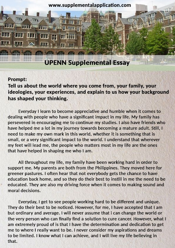We Don T Simply Want To Get The Upenn Supplement Essay For