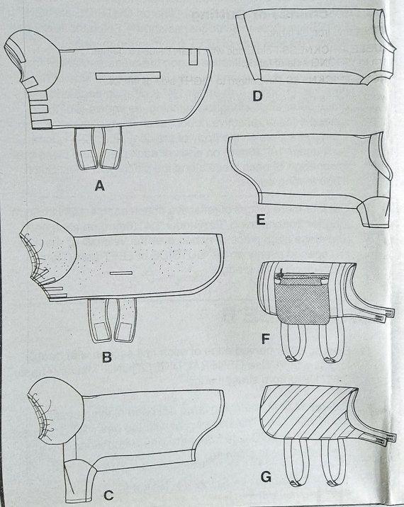 Dog Coat Pattern Dog Bathrobe Pattern Dog Saddle Bag by blue510 ...