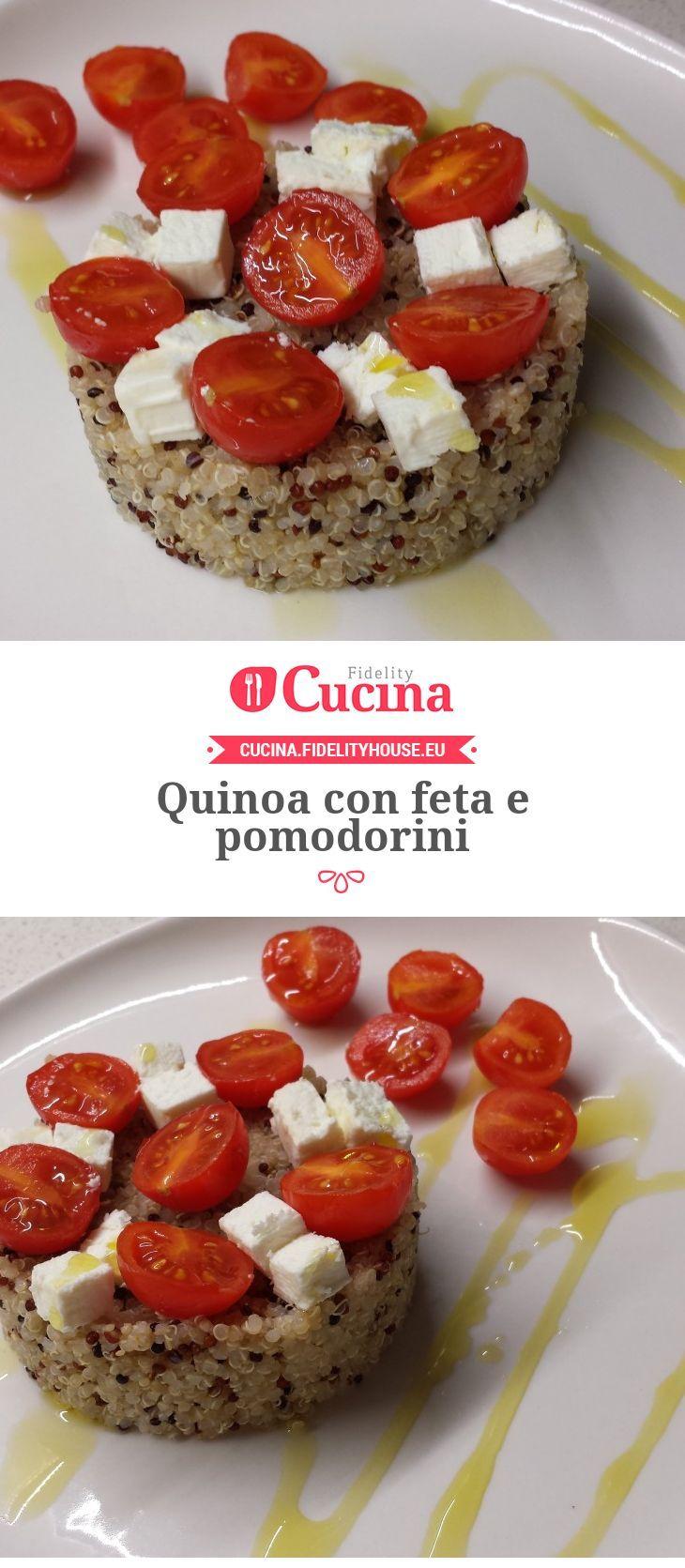 Quinoa con feta e pomodorini Quinoa con feta e pomodorini della nostra utente Giada. Unisciti alla