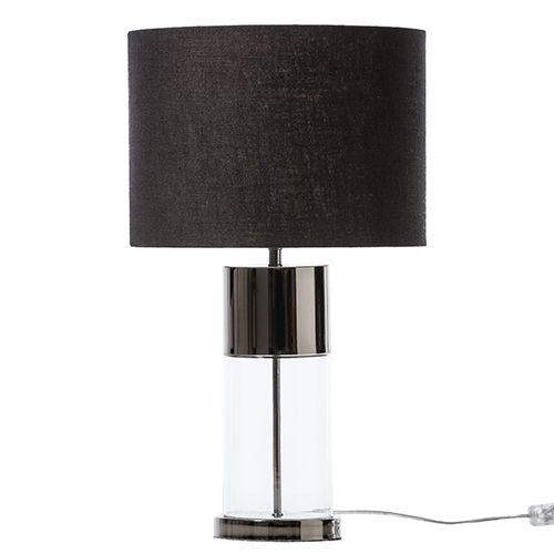 Glass Base Table Lamps Ellie Glass Table Lamp Gunmetal Bed 5  Brancourt Ave Bankstown