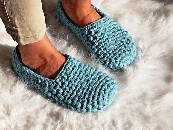926918d044d32 Women's Slippers, Turquoise Ballet flats, Vegan Shoes, Slipper Socks ...