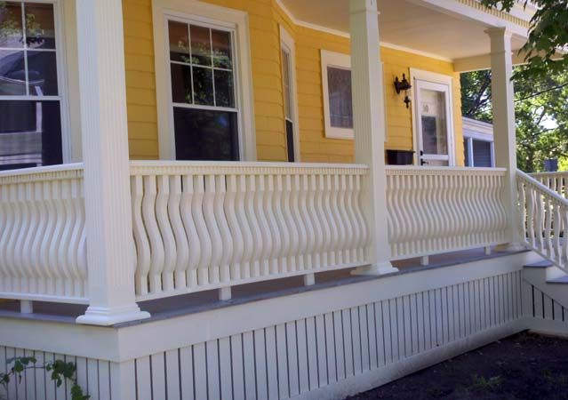 Victorian Porch wood post turning and railing products ...