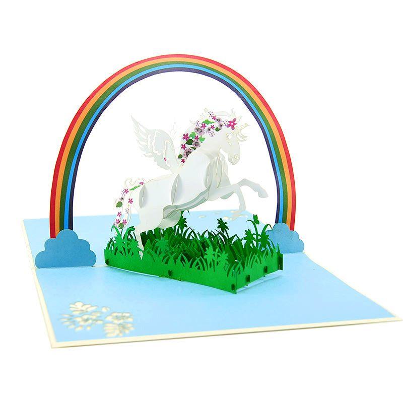 fairy unicorn pop up card pop up card manufacture