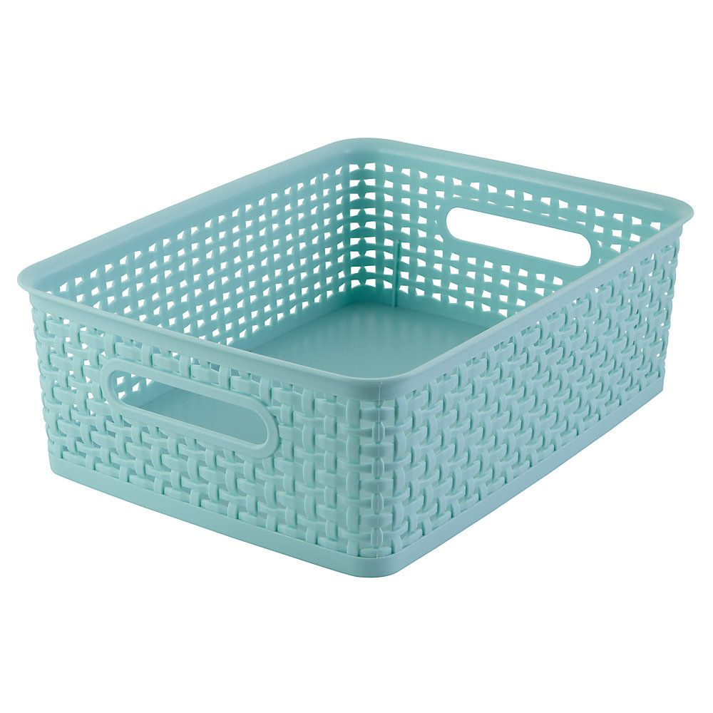 This Lined Rectangular Wire Basket - Set of Three by Cheung\'s Rattan ...