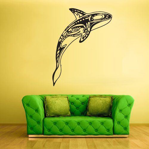 Wall Decal Mural Sticker Sea Ocean Orca Dolphin Fish Whale Animals ...
