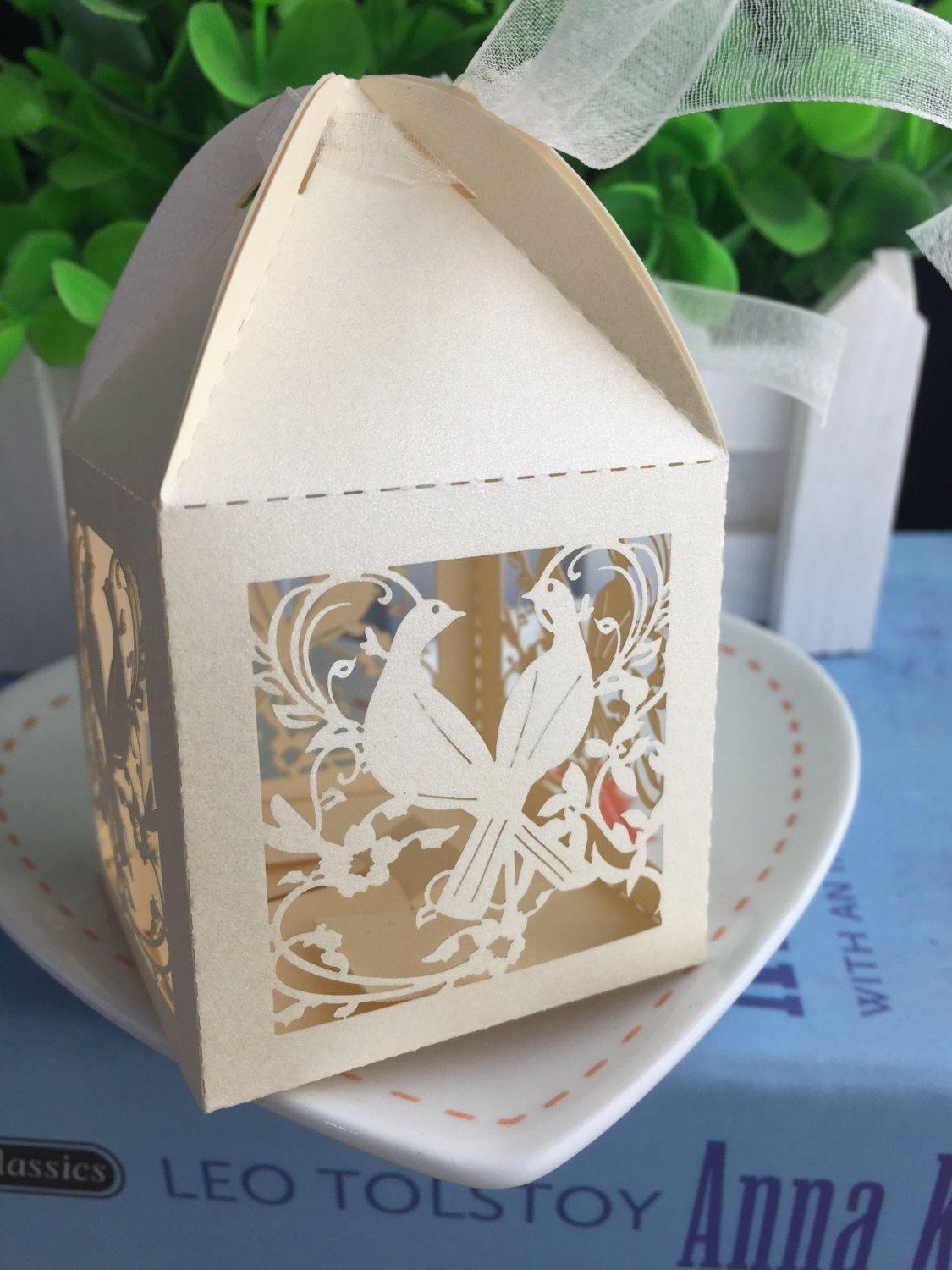 100pieces Free Shipping Laser Cut Chocolate Packaging Boxes Gift box ...