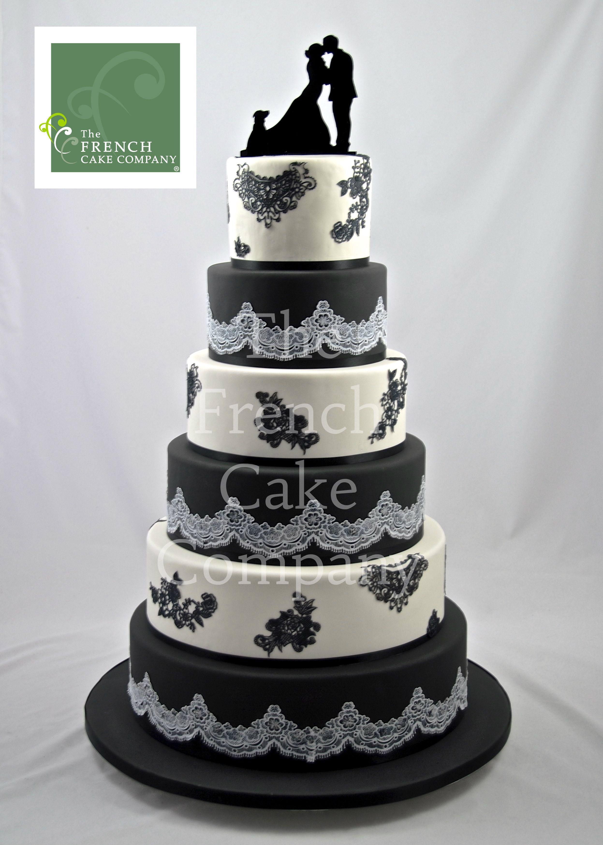 Wedding Cake Black and White Piece Montee Mariage Noir