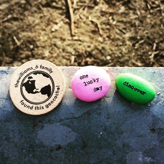 """""""Left these signature items and our wooden nickel in a cache in downtown Milwaukee, Wisconsin! #geoswag #geocaching #milwaukee"""""""