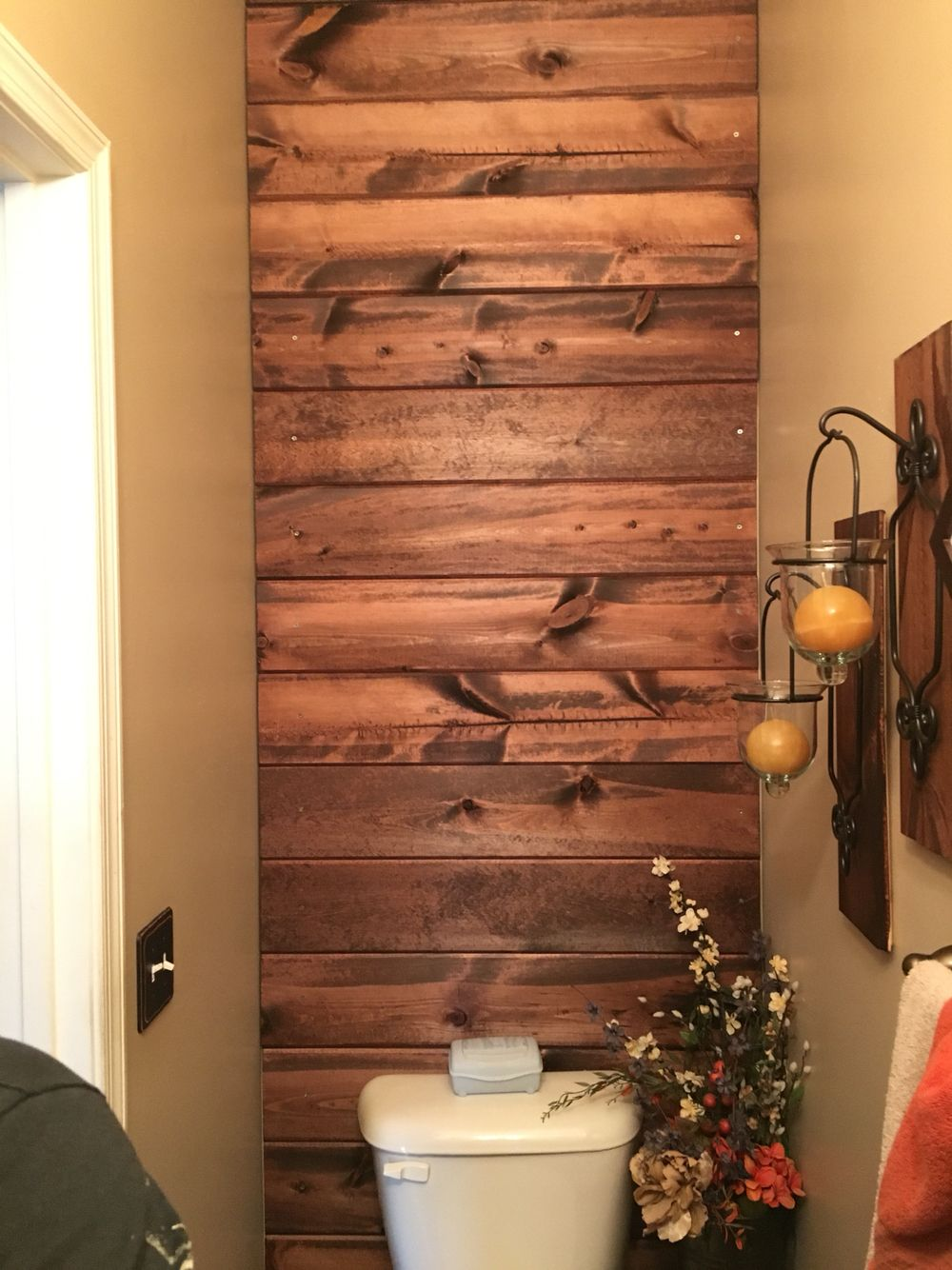 Royal wood tongue and groove panels - Ship Lap Wall Made With Tongue And Groove 1x8 Boards Stained With Red Mahogany Minwax