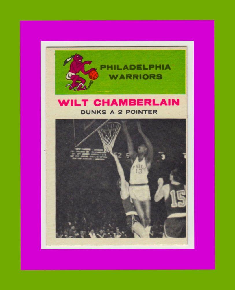 1961 FLEER #47 Wilt Chamberlain IN ACTION Rookie HOF Card Mint- Fabulous Card!!!