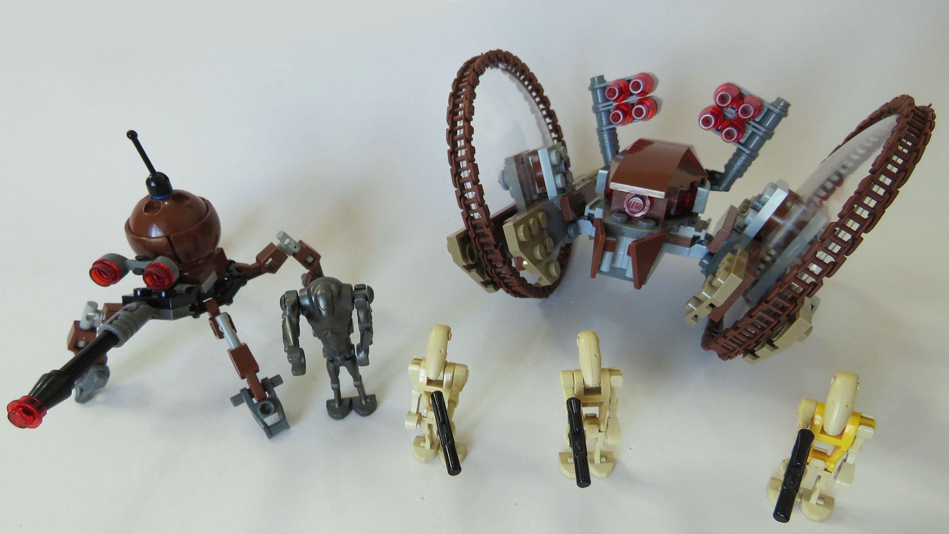 Lego Star Wars Hailfire Droid Spider Droid 7670 Build Intructions
