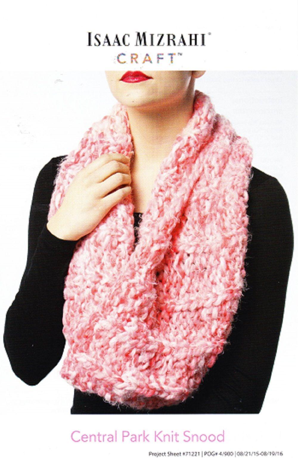 Isaac Mizrahi Knitting Pattern, Central Park Knit Snood | Knitting ...
