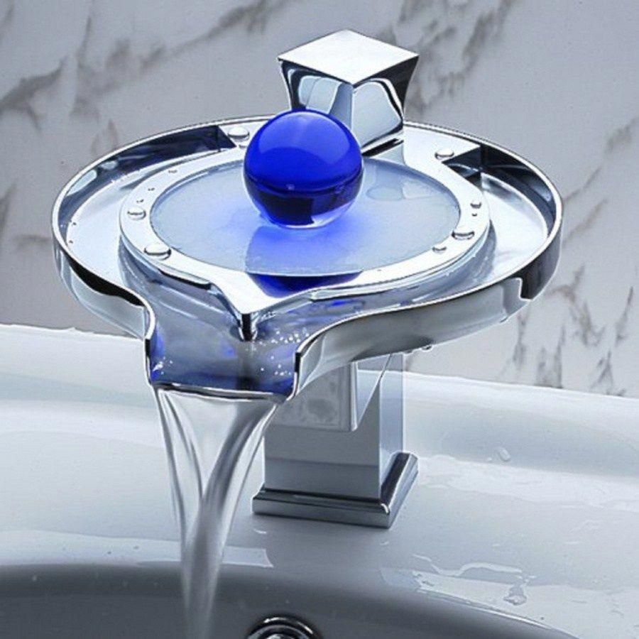 Photo of Unique-Bathroom-Vanity-Sink-LED-Faucet 40 Breathtaking and Unique Bathroom Fauce…