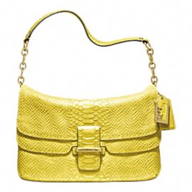 Madison Pinnacle Embossed Metallic Python Flap