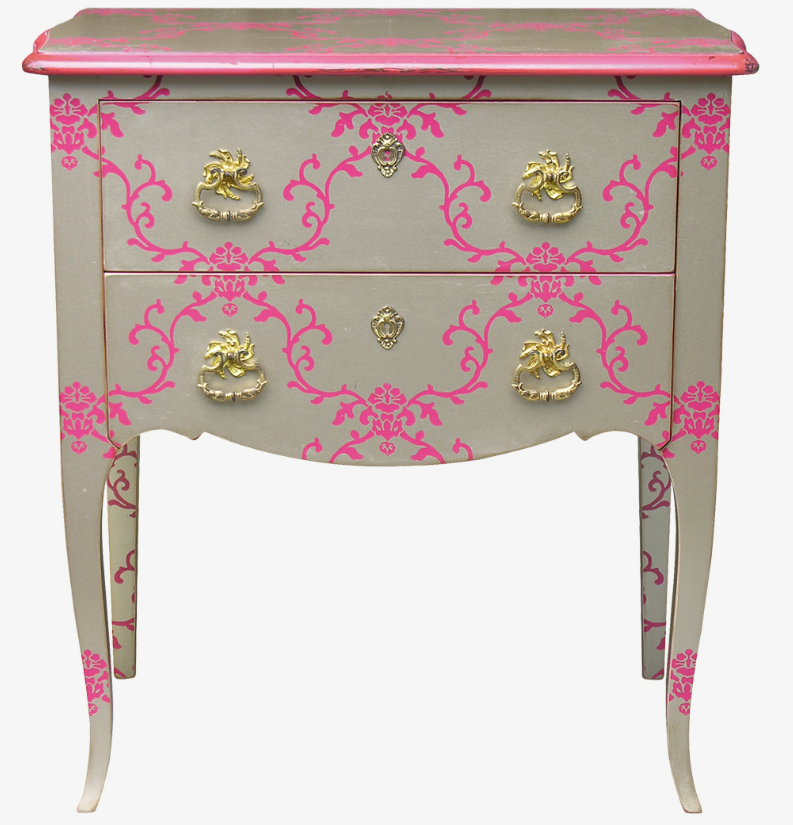 moissonnier - L.XV CHEST-OF-DRAWERS   Two drawers, bowed sides, bowed legs.