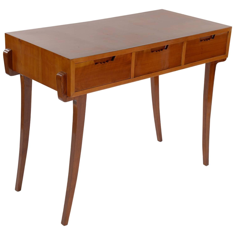 Little Italian 1940s Cherrywood Writing Desk 1stdibs Com Writing Desk Desk Console Desk