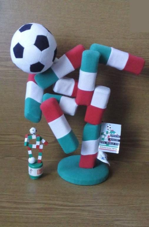 Fifa World Cup 1990 Italy Official Mascot Ciao Big Plush Toy 40 Cm Football