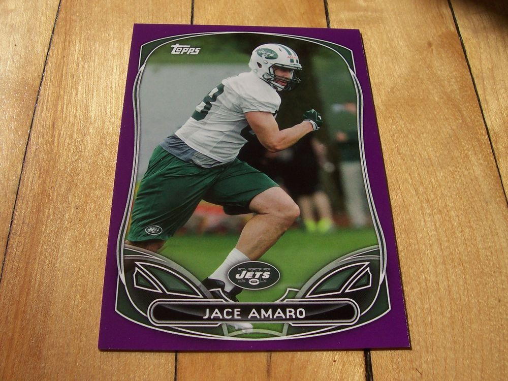 JACE AMARO RC 2014 Topps Purple Border Rookie Card Insert #61 Texas Tech NY Jets