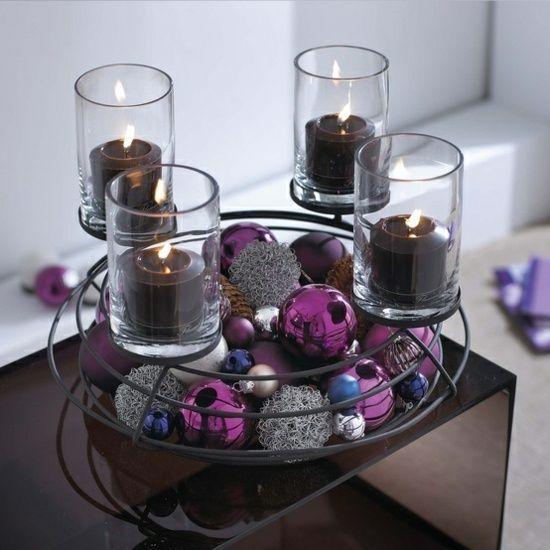 moderner lila adventskranz deco pinterest advent weihnachten und kranz. Black Bedroom Furniture Sets. Home Design Ideas