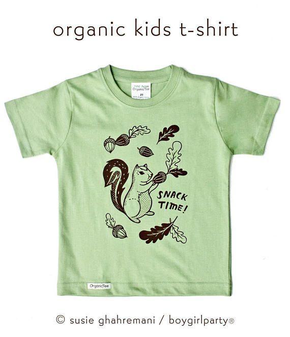 Organic Squirrel T-Shirt VarwRDwGhJ