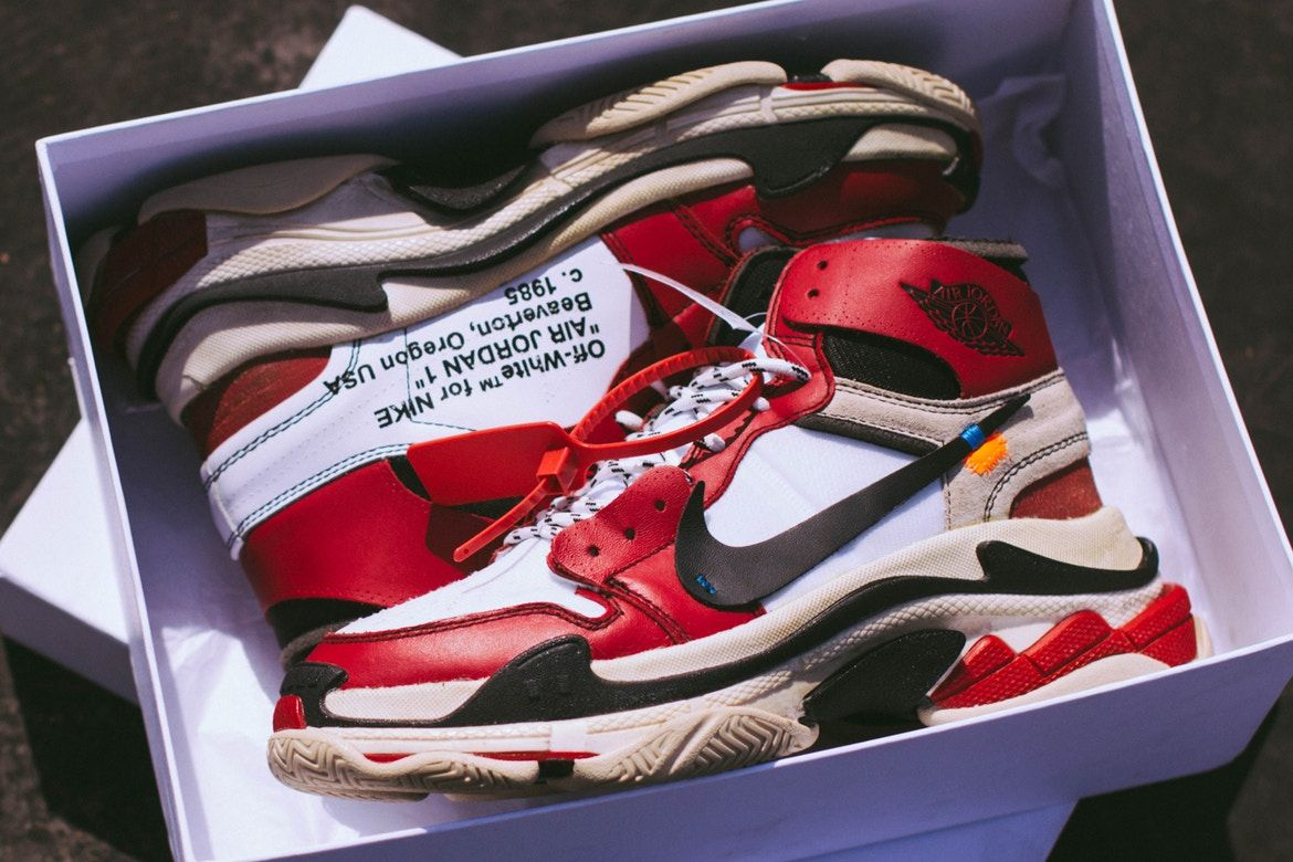buy online a5f6b 6a49b Virgil Abloh x Air Jordan 1 Custom Features Balenciaga Triple S Soles   amazing hipster sneakers  nike  shoes  old school  not a want but a need