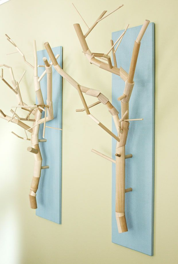 Great Add A Little U201cart Is Treeu201d To Walls With These Cool Branch Sculptures.  Could Do With Actual Branches/pinecones