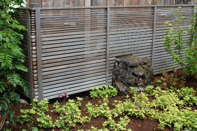 Horizontal Fence, Modern Fence, Japanese Fence Gates And Fencing Ross NW  Watergardens Portland, Part 50