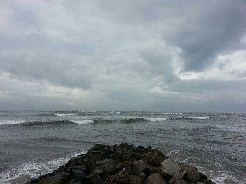 Kollam beach, Kerala  A rainy day..