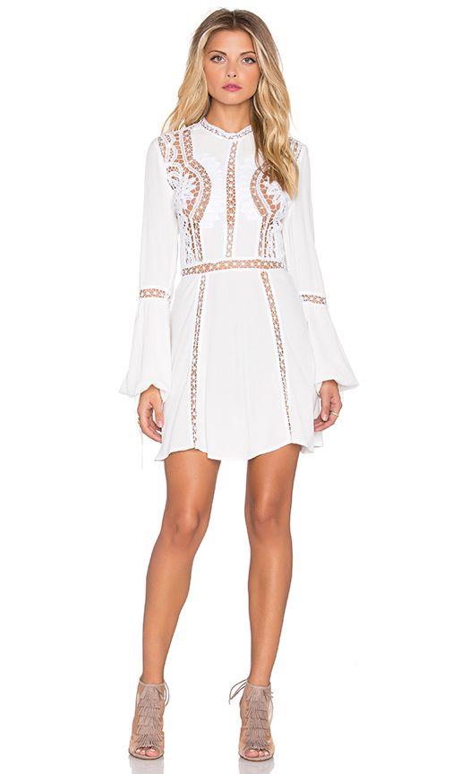 Shop for For Love & Lemons Penelope Mini Dress in Ivory at REVOLVE.