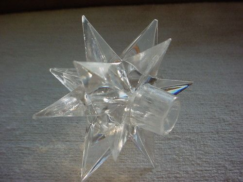 Clear Hard Plastic Star Shaped Covers For Standard Christmas Mini