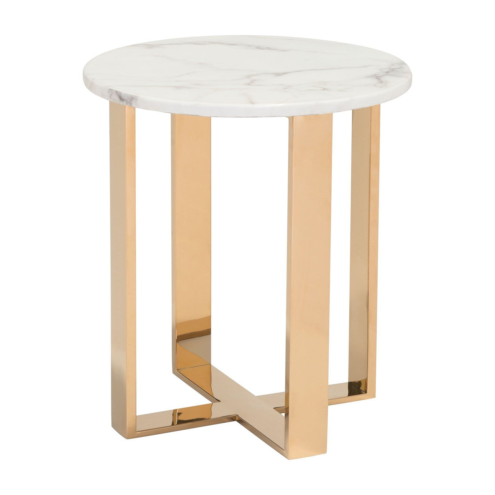 Zuo Modern Contemporary Atlas End Table Marble End Tables