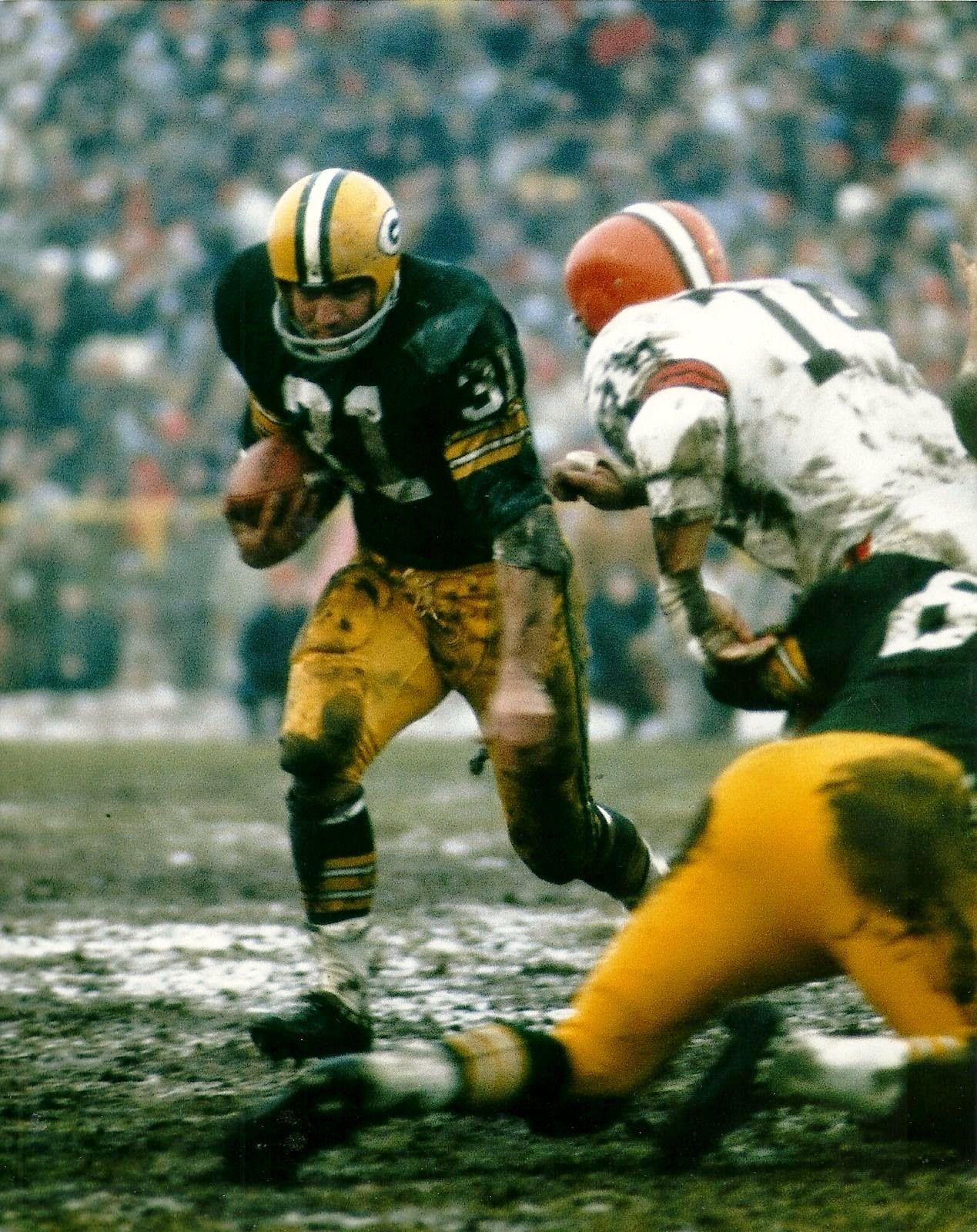 1965 Nfl Championship Game Jim Taylor Nfl Championships Green Bay Packers Vintage Packers Football