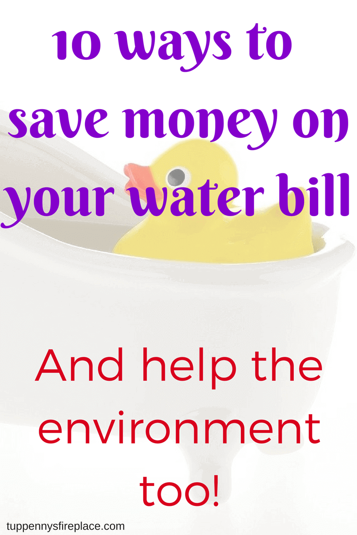 10 ways to save money on your water bill   pinterest   environment
