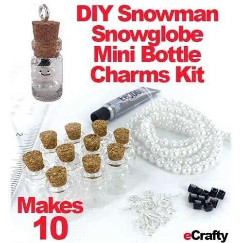 Brand NEW Just In Make Easy Holiday Gifts Or School Room Crafts To Take  Home! Each Kit Makes TEN Little Snowmen Snow Globe Mini Bottle Charms!