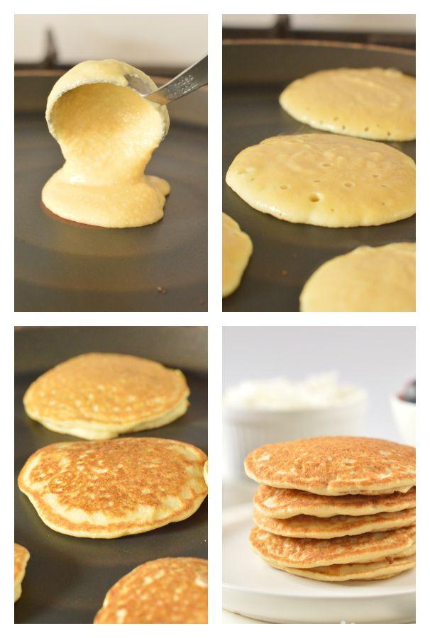 Low carb coconut flour pancakes - keto + gluten free - Sweetashoney