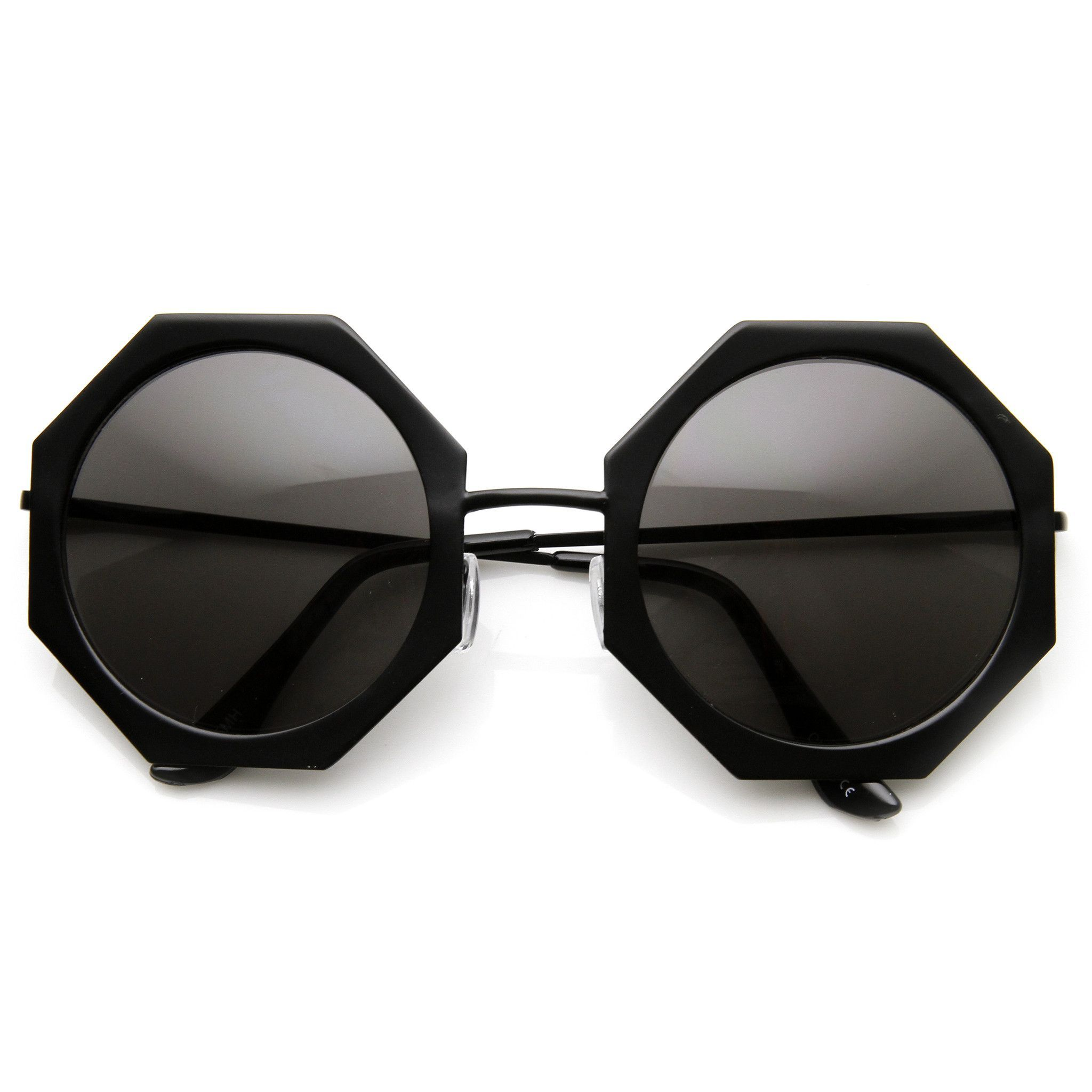 2687f679d065 Womens Oversize Metal Geometric Octagon Round Sunglasses 9316 ...